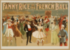 Fanny Rice At The French Ball Clip Art