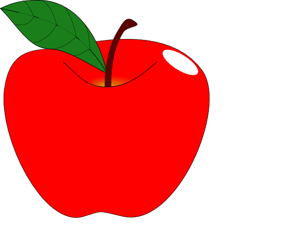 red apple 1 clip art at clker com vector clip art online royalty rh clker com red rose apple clipart free clipart red apple