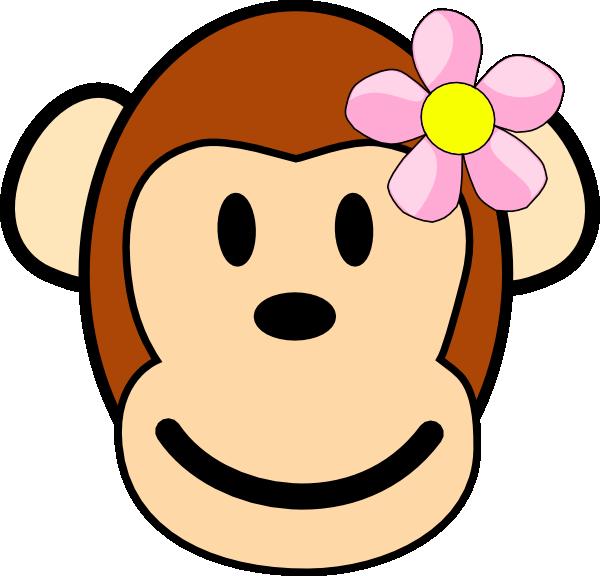 Girl monkey clip art