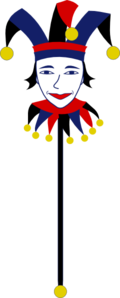 Jester On Stick Friendly Clip Art