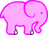 A Better Pink Elephant Clip Art