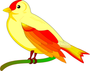 Yellow Bird Clip Art