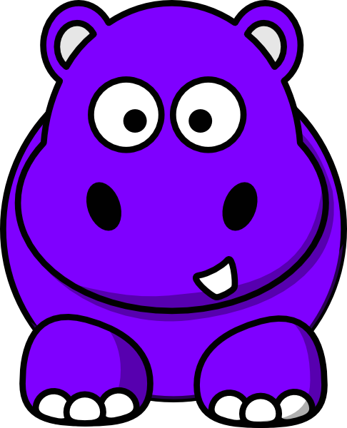 Hippo Purple Clip Art at Clker.com - vector clip art online, royalty ...