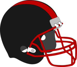 Football Helmet Red And Black Clip Art