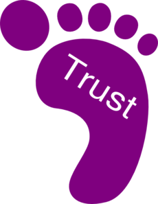 Right Foot Trust Clip Art