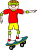 Skate Board Boy Clip Art