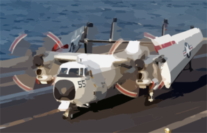 A C-2a Greyhound Attached To The  Clip Art