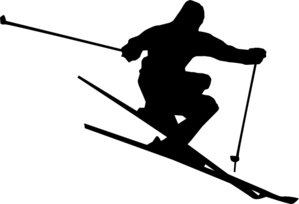 Ski-noir Clip Art