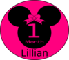 Minnie Mouse 1 Month B Clip Art
