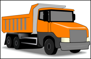 Orange Truck Clip Art