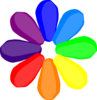 Bright Rainbow Flower Clip Art