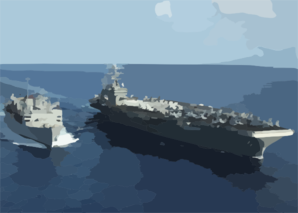 Uss Supply And Uss George Washington Clip Art