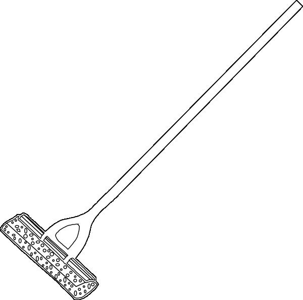 Mop Lineart Clip Art At Clker Com Vector Clip Art Online