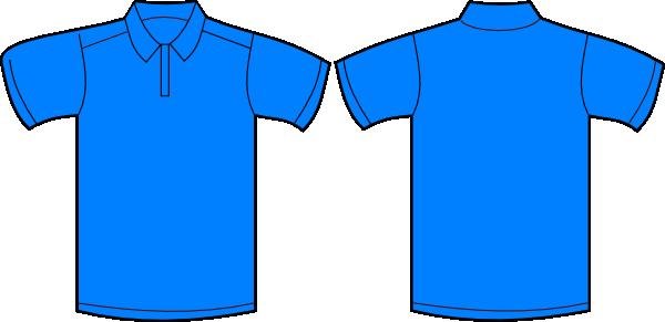 Polo Shirt Front And Back Clip Art at Clker.com - vector clip art ...