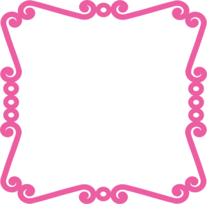 Scrolly Frame Pink Clip Art