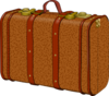 Brown Suitcase Clip Art