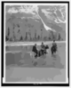 [three Campers On Horseback Cross The Columbia River In Washington] Clip Art