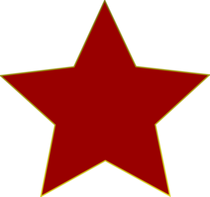 Star Ruby Red Clip Art