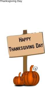 Happy Thanksgiving Day Sign Clip Art