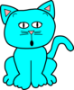 Turquoise Surprised/scared 3 Clip Art