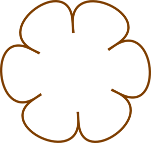 Brown Flower 31 Clip Art