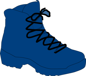 Dark Blue Boot Clip Art