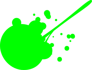 Green Paint Splatter Clip Art