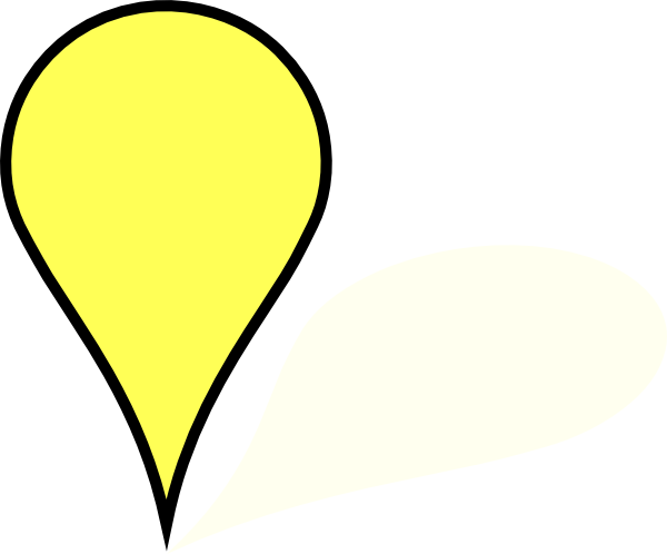 yellow pin clipart - photo #5