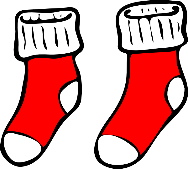 red socks clip art at clker com vector clip art online royalty rh clker com sock clipart png sock clipart