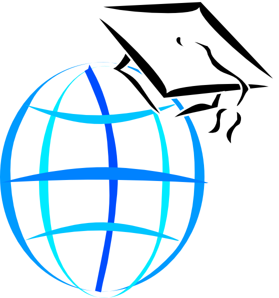 Mortarboard Globe Clip Art at Clker.com - vector clip art online ...