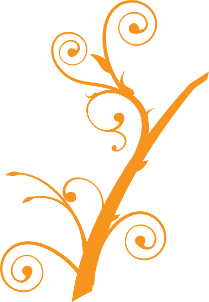 clip art tree branches. Orange Tree Branch clip art
