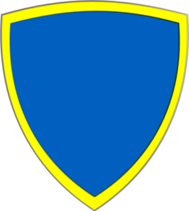 Blue Yellow Security Shield Clip Art
