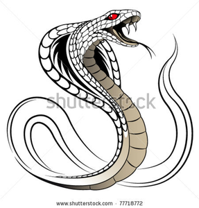 Stock Vector Snake Cobra In The Form Of A Tattoo Image