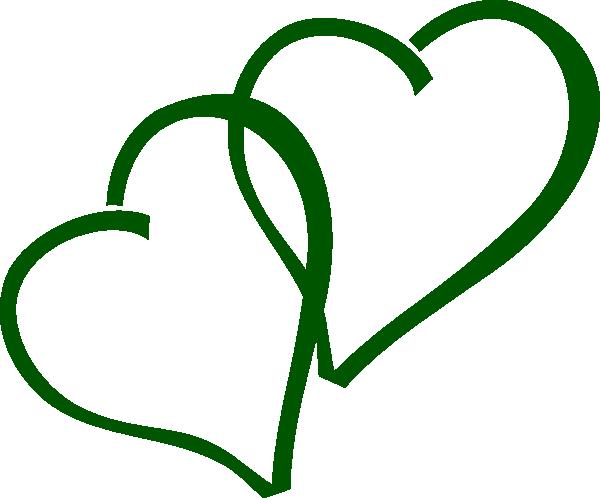 green double hearts clip art at clker com vector clip art online rh clker com double heart clipart black and white double heart clipart images