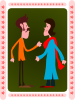 Kablam Indian Couple Clip Art
