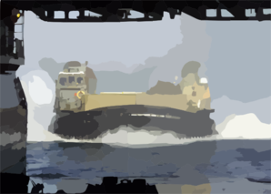 Lcac Returns To The Uss Kearsarge Lhd 3 Clip Art