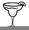 Black And White Margarita Clipart Image