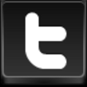 Twitter button black
