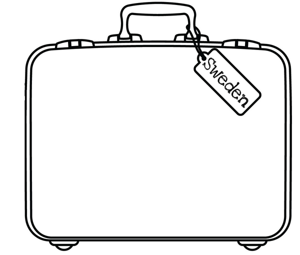 Sweden Suitcase Free Images At Clker Com Vector Clip