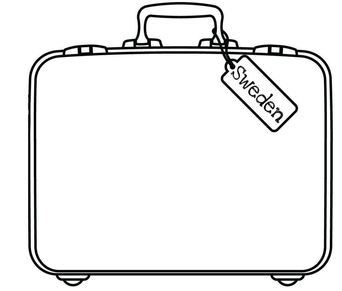 Sweden Suitcase Free Images At Clkercom Vector Clip Art - Sweden map coloring page