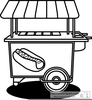 Hot Dog Clipart Black And White Image