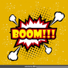 Boom Vector Free Image