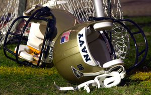 A Pair Of Navy Helmets Lays On The Field Prior To The Ev1.net Houston Bowl At Reliant Stadium In Houston, Texas. Image
