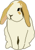 Gingercoons Lop Eared Rabbit Clip Art