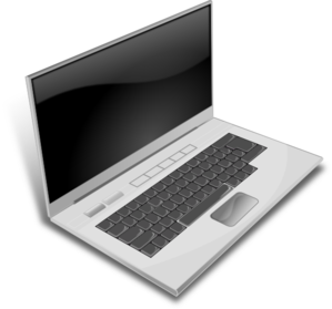 Gray Laptop Clip Art