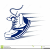 Shoe With Wings Clipart Image