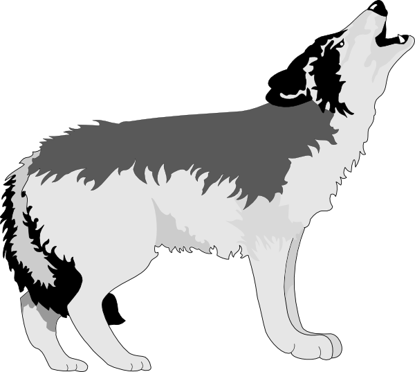 wolf howling clip art at clker com vector clip art online royalty rh clker com clipart wolf black and white clipart wolf