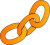 Orange Chain Clip Art