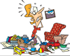 Free Messy Room Clipart Image