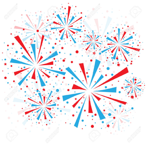 Firework red white blue. And fireworks clipart free